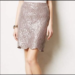 Anthropologie Yoana Baraschi sequin mini skirt.